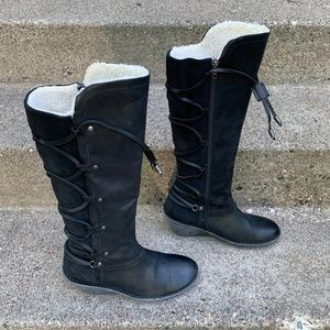 Abroad Black Knee High Womens Boots 8.5